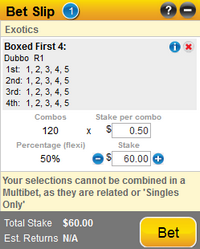 First 4 betting calculator for horse over under betting does meaningful beauty